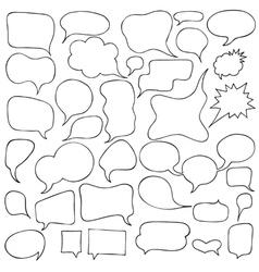 Set cartoon speech and thought bubbles vector