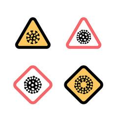 Set stop signs coronavirus 2019-ncov disease vector