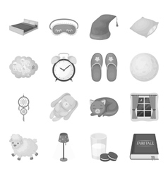Sleep and rest set icons in monochrome style Big vector
