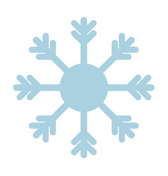 snowflake icon blue on white background vector image