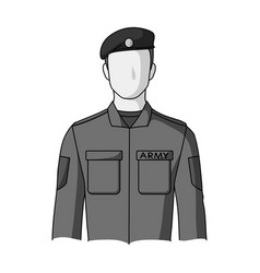soldierprofessions single icon in monochrome vector image