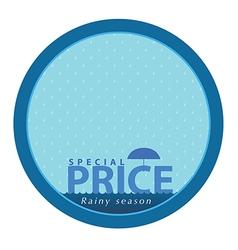 Special price on rainy season event logo vector