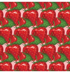 Strawberry Patterned Background vector image