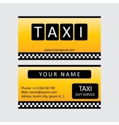 Taxi service card vector