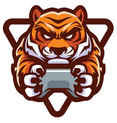 Tiger gamer mascot vector