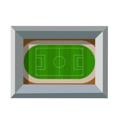 Top view from above is a sports stadium vector