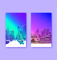 Trendy cover template philadelphia pennsylvania vector
