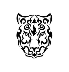 Tribal snow leopard vector