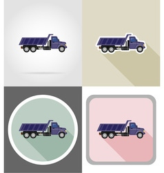 truck flat icons 06 vector image