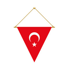 turkish triangle flag hanging vector image
