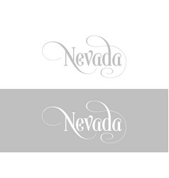 typography of the usa nevada states handwritten vector image