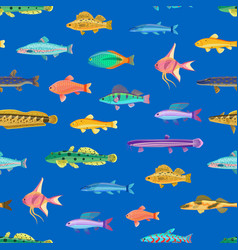 varicoloured marine creatures seamless pattern vector image