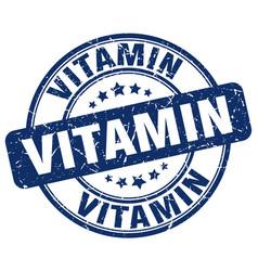 Vitamin blue grunge stamp vector