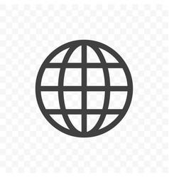 world earth globe icon language change travel vector image
