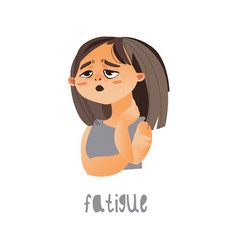 young sick girl suffering from fatigue vector image