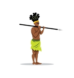 African aborigine Cartoon vector image