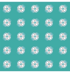 Ethnic seamless pattern background in blue colors vector image