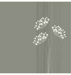 Flower background Simple and clean design template vector image vector image