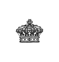 hand drawn crown vector image vector image