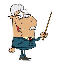 Hispanic Senior Professor Man vector image vector image
