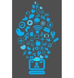 Modern social media content vector image vector image