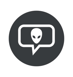 Round alien dialog icon vector image