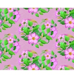 seamless background of watercolor flowers in vector image vector image