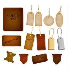 set of leather and jeans labels and tags vector image vector image