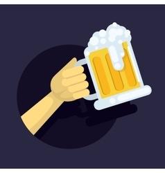 a large glass mug fresh vector image vector image