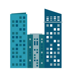 building urban skyscraper residential vector image