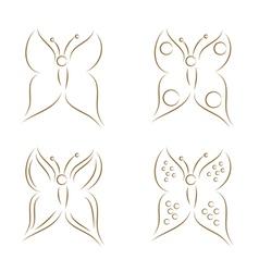 butterflies sketch vector image vector image