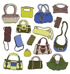 Collection womens handbags vector image vector image