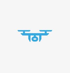 Drone sky viewer logo design template vector