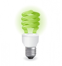 ecological light bulbs icon vector image vector image