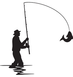 Fisherman vector image