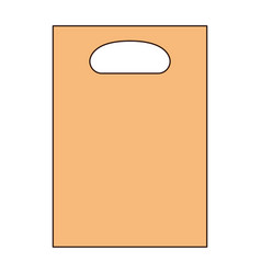 paper bag icon with handle in colorful silhouette vector image