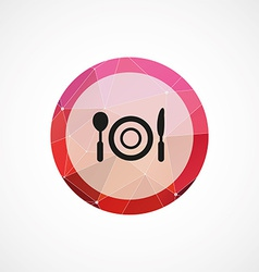 restaurant circle pink triangle background icon vector image