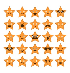 set of stars with different emotions vector image