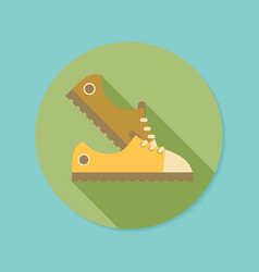 sneakers flat icon with long shadow eps10 vector image vector image