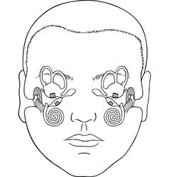 Vestibular apparatus vector image vector image