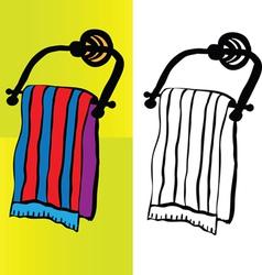 Bath towel vector image vector image