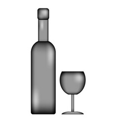 bottle and glasse icon sign vector image vector image