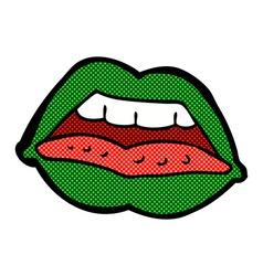 comic cartoon sexy halloween lips symbol vector image