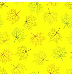 Yellow Maple Seamless Background vector image