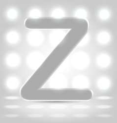 Z over lighted background vector image vector image