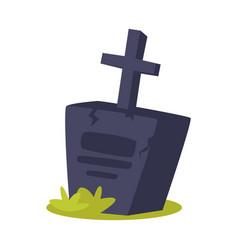 cartoon of grave vector image
