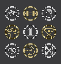 crossfit logos and emblems vector image vector image