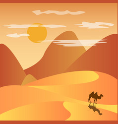 desert with mountains vector image