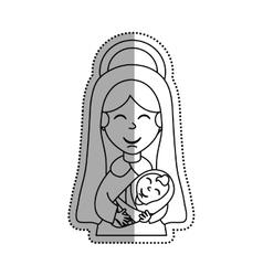 Holy virgin mary cartoon vector image