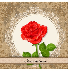 invitation rose vector image
